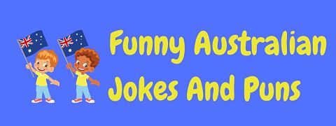 Header image for a page of funny Australian jokes and puns.