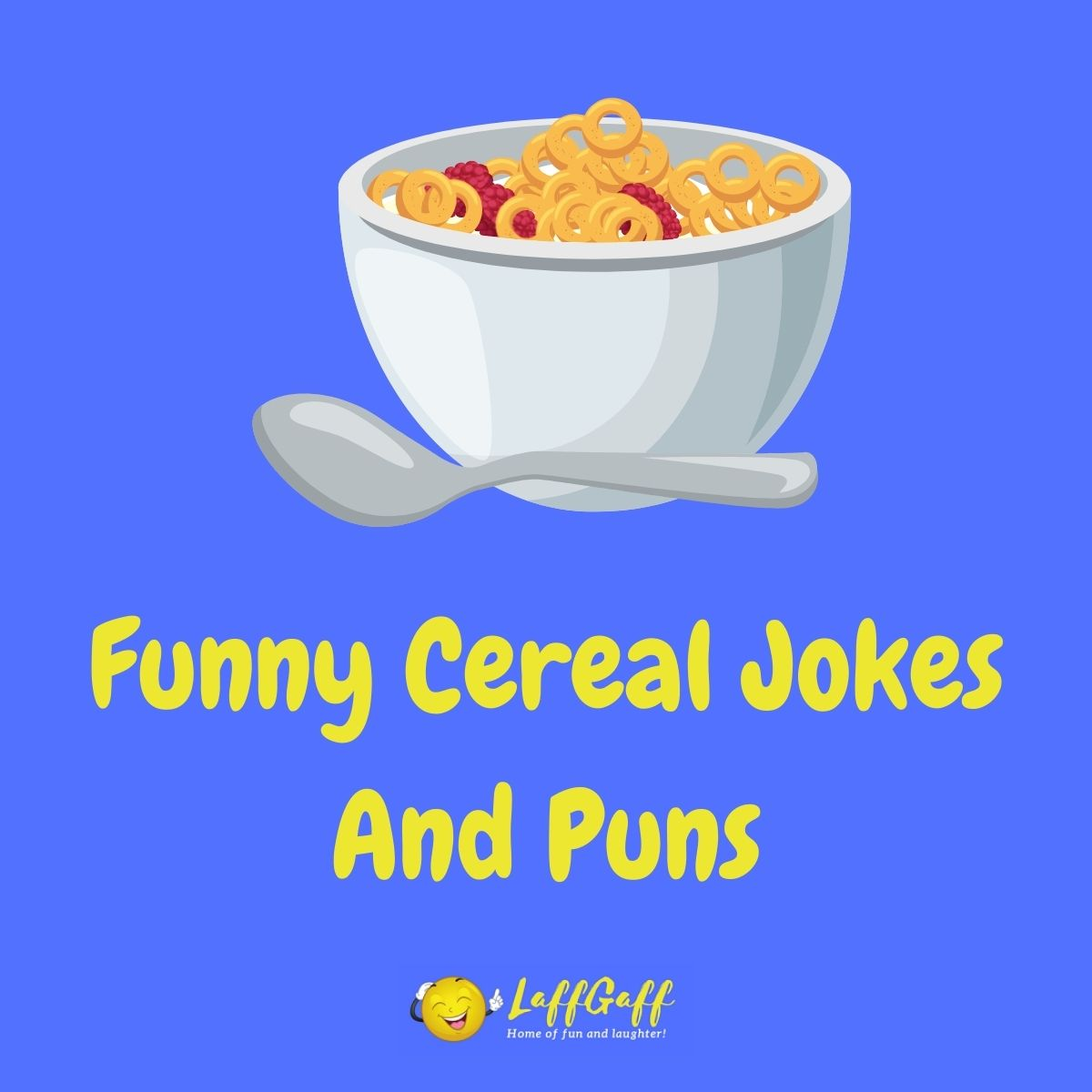 Featured image for a page of funny cereal jokes and puns.