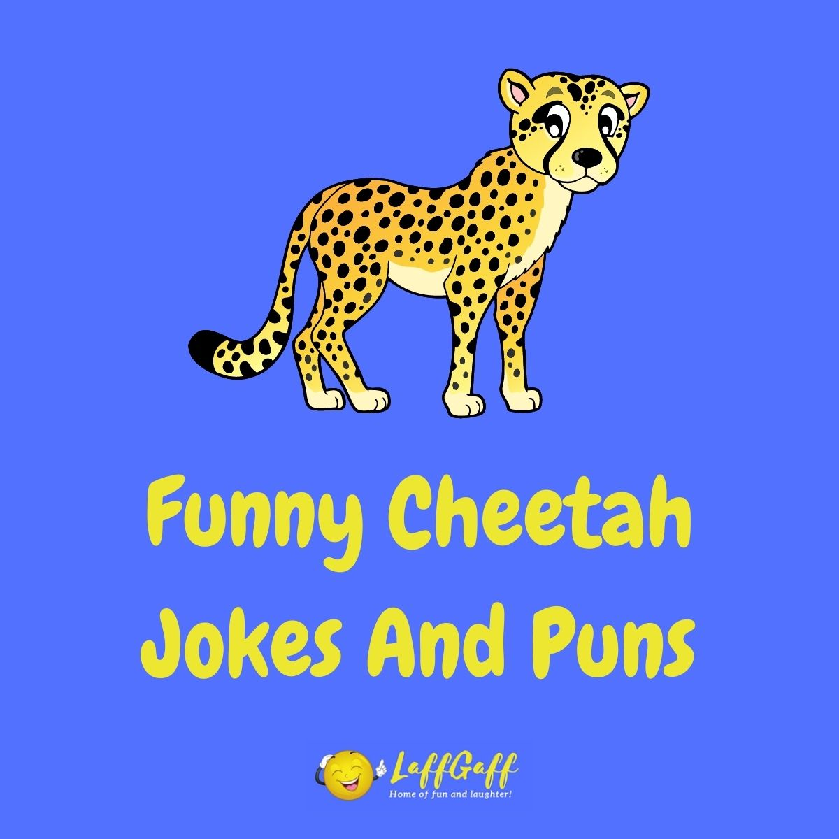 Featured image for a page of funny cheetah jokes and puns..
