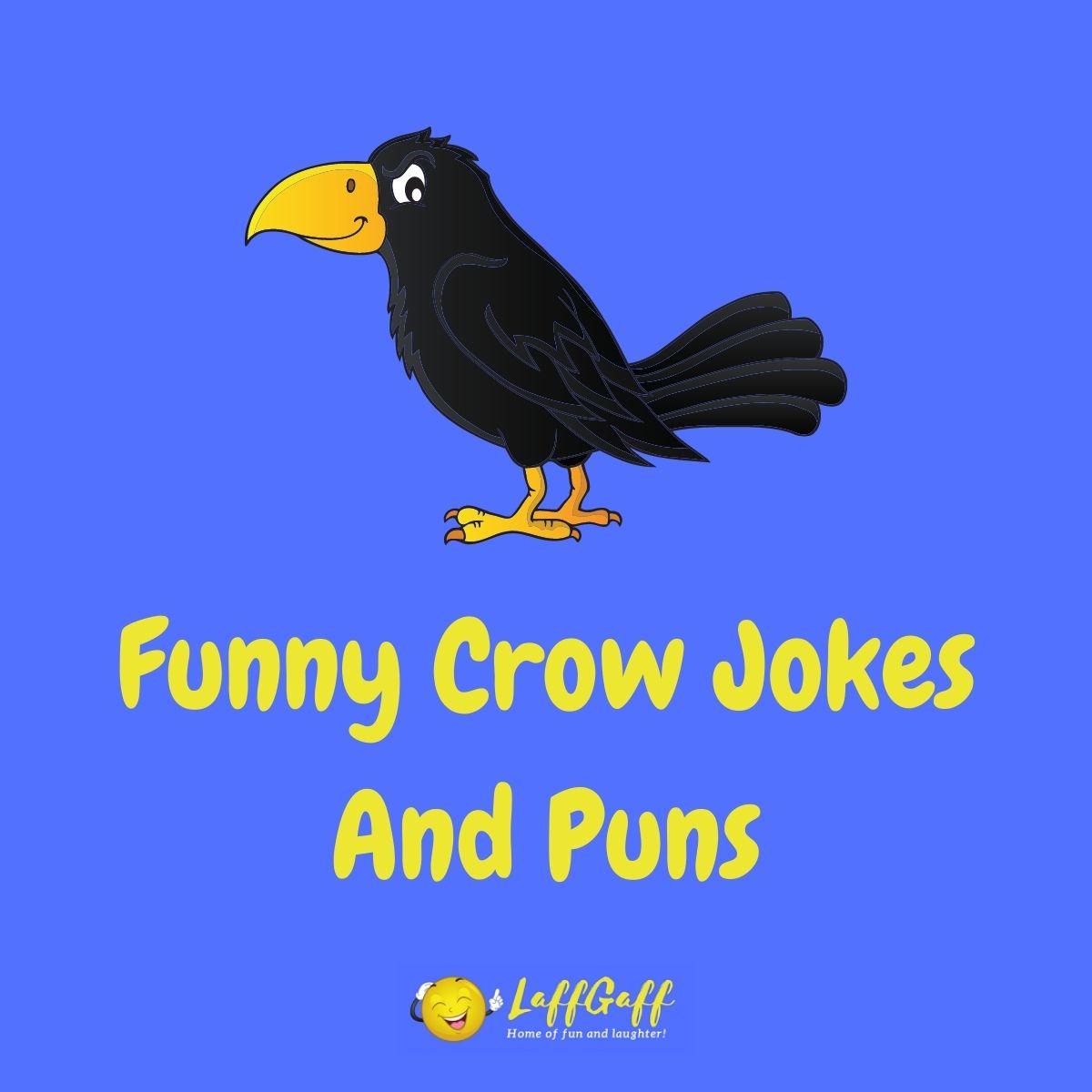 Featured image for a page of funny crow jokes and puns.