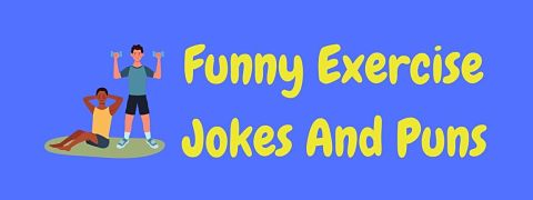 Header image for a page of funny exercise jokes and puns.