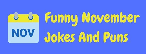 Header image for a page of funny November jokes and puns.