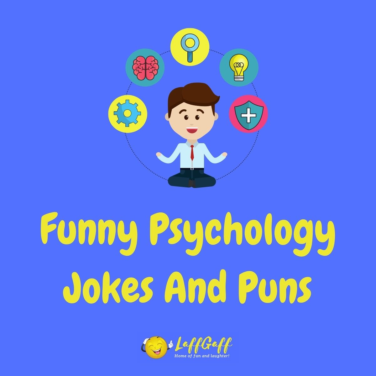 Featured image for a page of funny psychology jokes and puns.