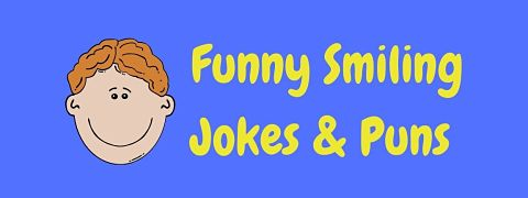 Header image for a page of funny smiling jokes and puns.