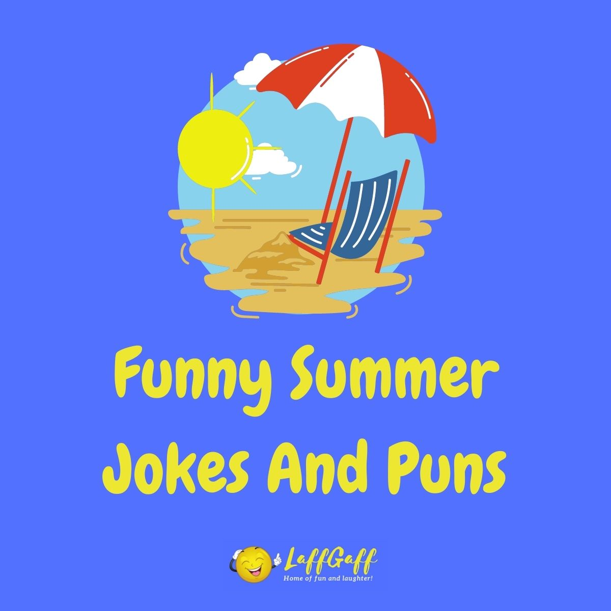 Featured image for a page of funny summer jokes and puns.