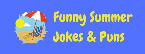 Header image for a page of funny summer jokes and puns.