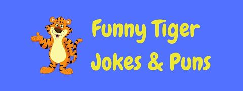 Header image for a page of funny tiger jokes and puns..
